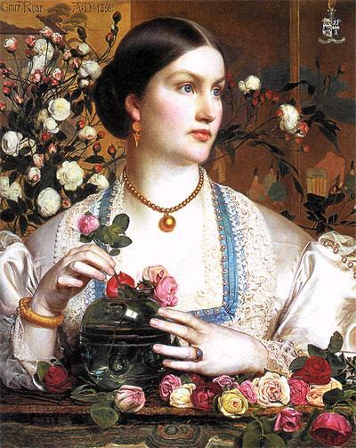Энтони Сэндис. Портрет Грейс Роуз. 1866 г.