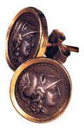 Серьги с профилем Афины Паллады. И. Лалаунис
