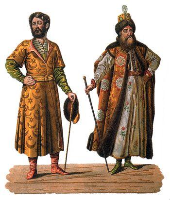 Одежда бояр XVI-XVII вв.