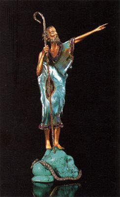 """Статуэтка """"Небывалое мгновение"""" (золото, бриллианты, перламутр, рубины, бирюза)"""