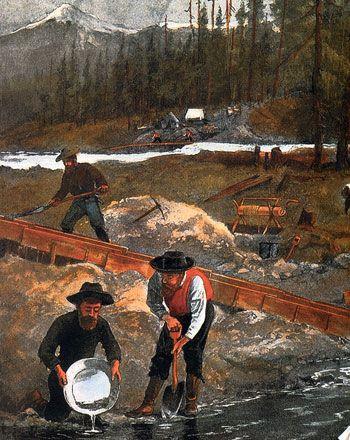 Промывка золота на Аляске