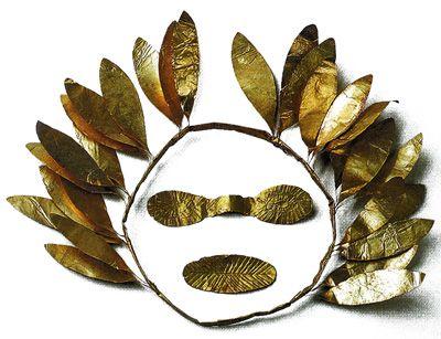 Погребальный золотой лавровый лист