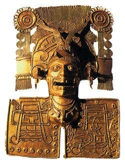 Пектораль с изображением миштекского бога смерти