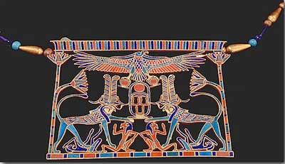 ювелирный музей – ювелирное искусство в древнем Египте: пектораль Меререт, 12 Династия