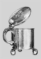 Серебряная кружка. Кострома, 1784 г. Мастер Григорий Ратков.