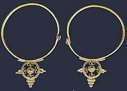 Музей ювелирного искусства – Греция – Часть 8.1. Византия (4-15 век). Золотые серьги