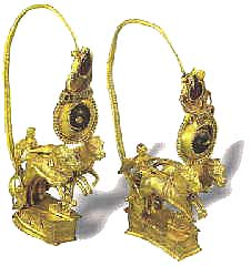 Музей ювелирного искусства – Греция – Часть 6.1. Эллинский период. Пара золотых серег