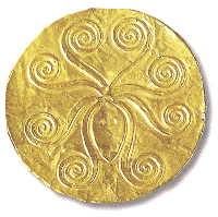 Музей ювелирного искусства – Греция – часть 1. Неолит (6800-3300 до рх). Золотой диск