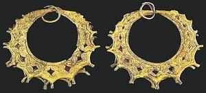 Музей ювелирного искусства – Греция – часть 1. Неолит (6800-3300 до рх). Золотые серьги