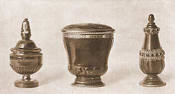 Янтарная солонка, янтарная коробочка, янтарный флакон