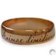 гравировка на обручальном кольце: Animae dimidium meae - Половина души моей